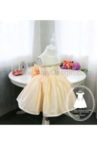 Light Gold Infant Christmas Dress, Thanksgiving Dress