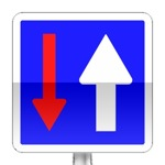 Panneau d'indication de priorité par rapport à la circulation venant d'en face