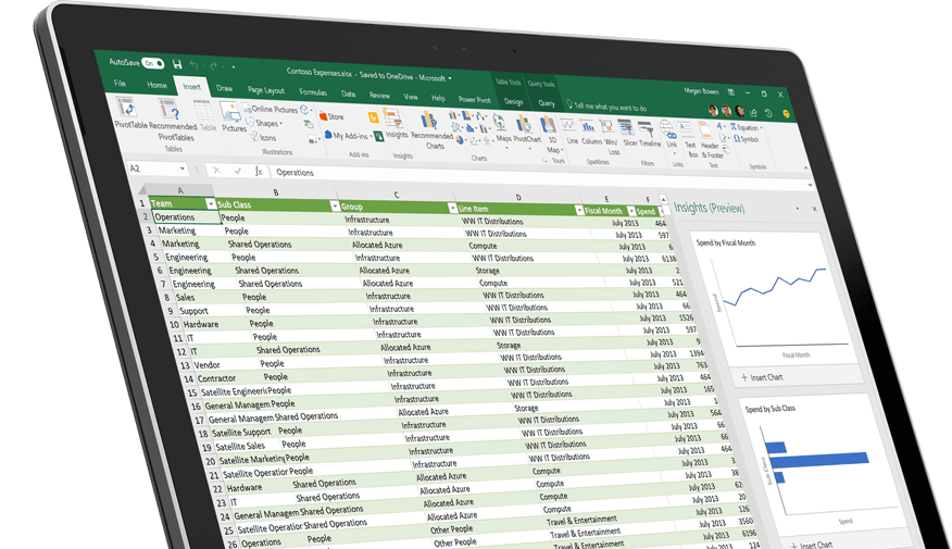 Microsoft Excel 2016, Spreadsheet Software, Excel Free Trial