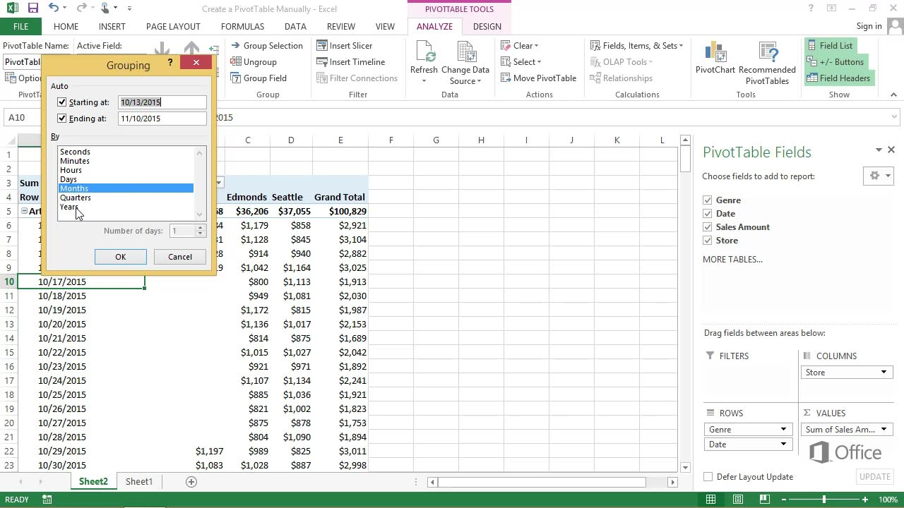 also video create  pivottable manually excel rh support office