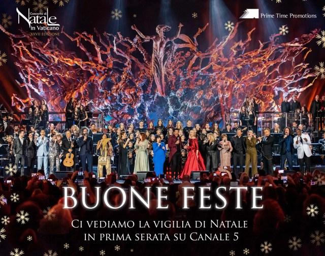 Risultati immagini per concerto di natale in vaticano mediaset