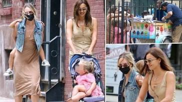 Peccati di gola per Irina Shayk e Candice Swanepoel, passeggiata con pausa dal gelataio