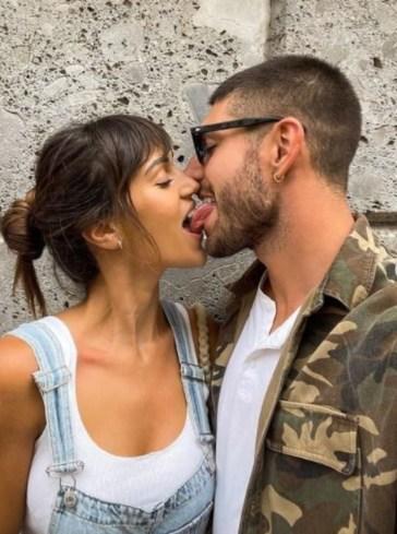 Baci appassionati per Cecilia Rodriguez e Ignazio Moser