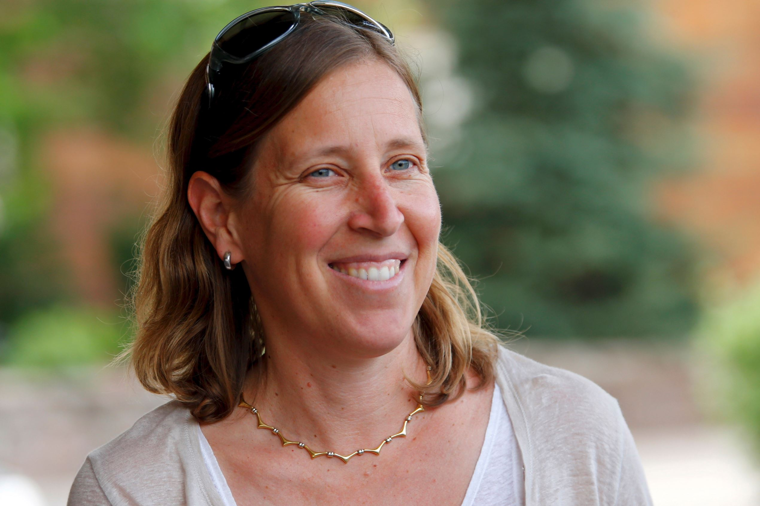 YouTube CEO Susan Wojcicki arrives for the annual Allen and Co. media conference Sun Valley, Idaho on July 7.