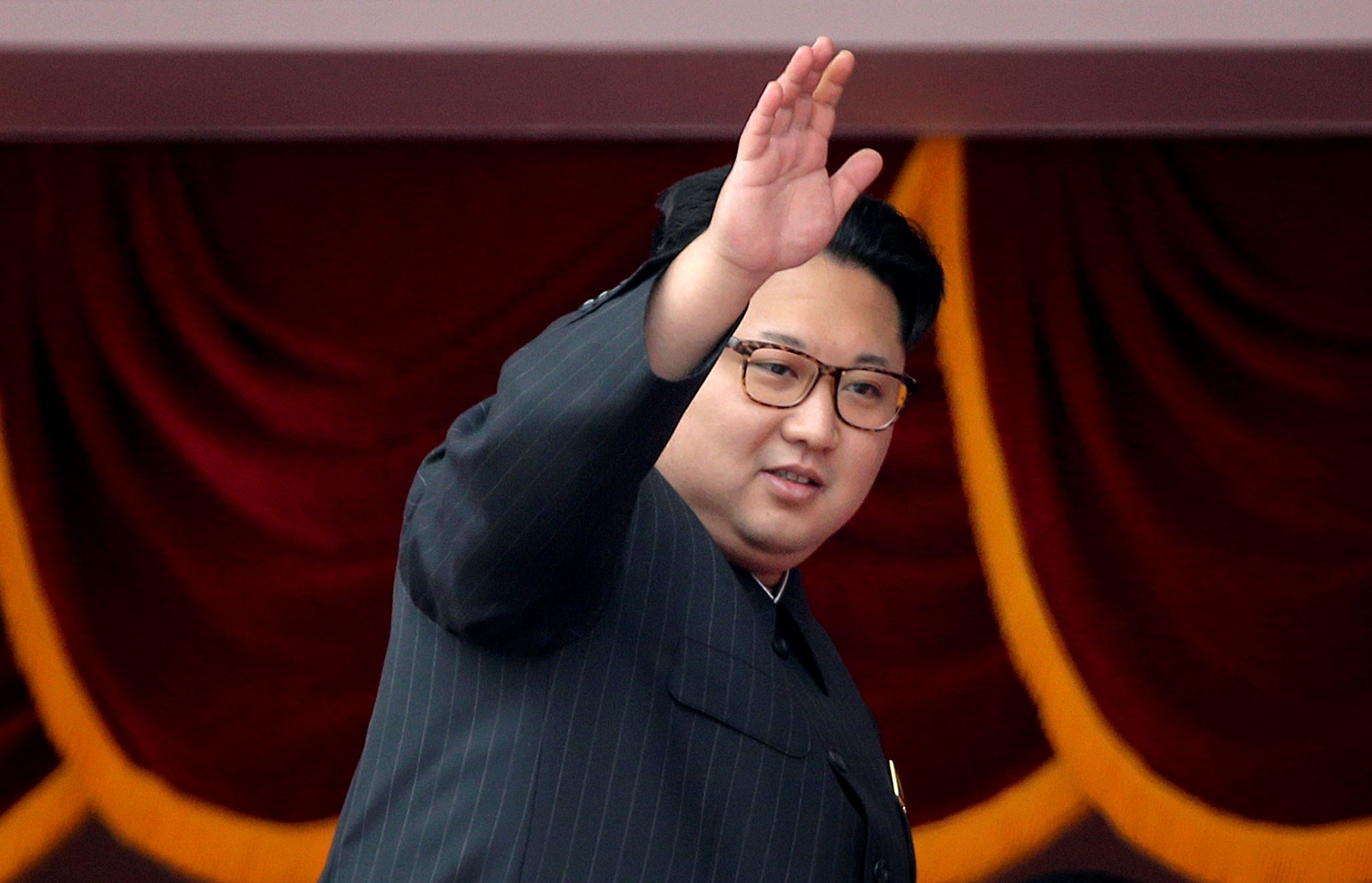 FILE - In this May 10, 2016 file photo, North Korean leader Kim Jong Un waves at parade participants at the Kim Il Sung Square in Pyongyang, North Korea. South Korea's military says North Korea has fired a ballistic missile on Wednesday, Aug. 3, 2016 into the sea.