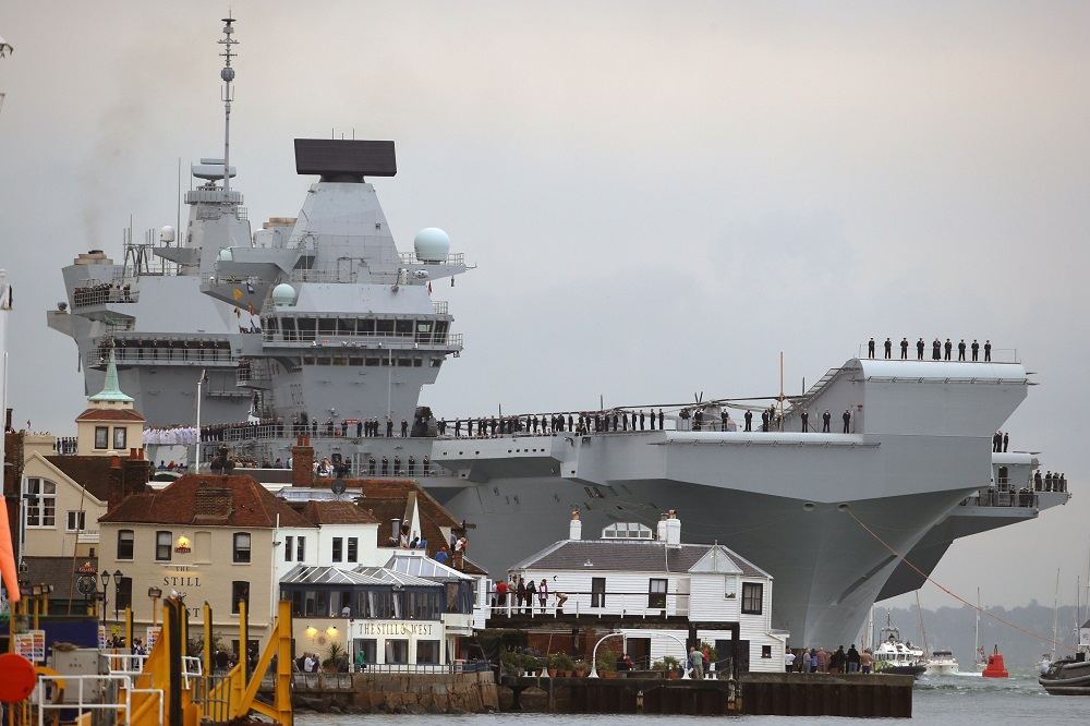 UK readies new carrier as it 'prepares for war with N Korea'