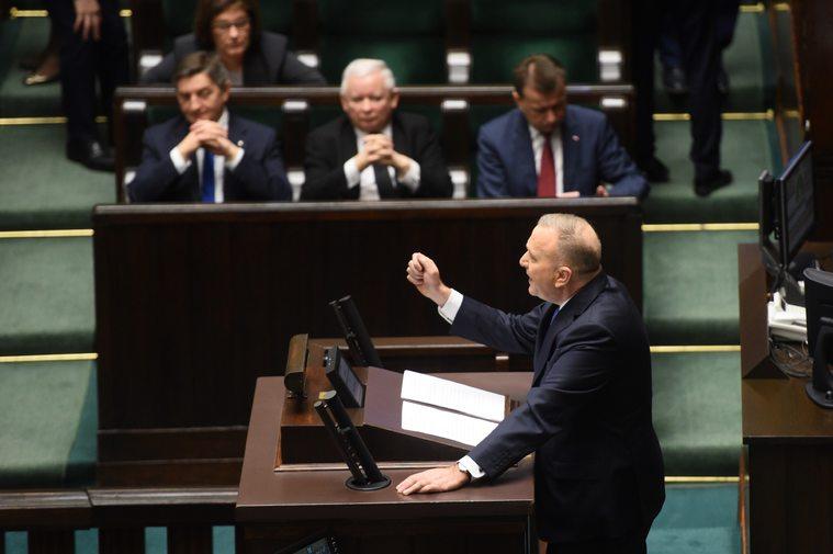 Grzegorz Schetyna przemawia w Sejmie
