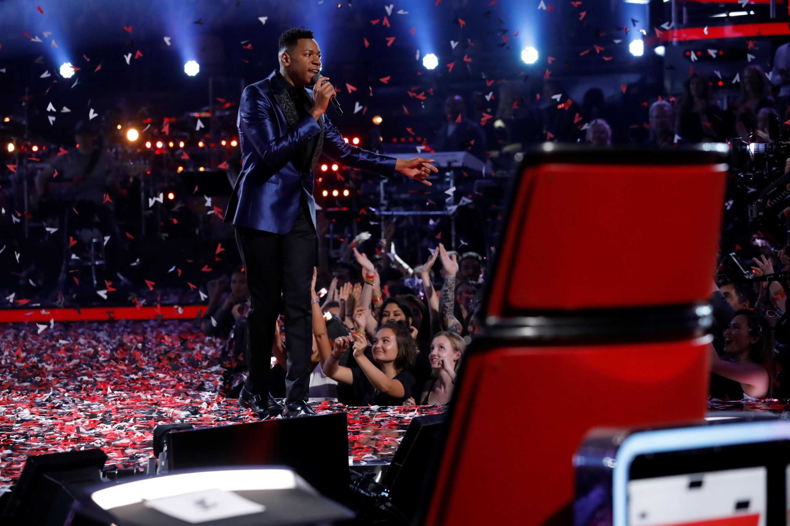 "THE VOICE -- ""Live Finale"" Episode 1219B, Finale: Chris Blue"