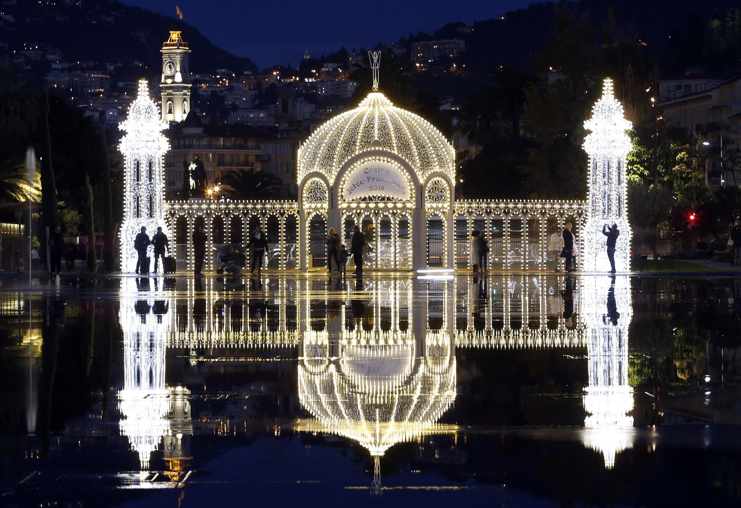 Here's a look at some places illuminated with electric lights this festive season.