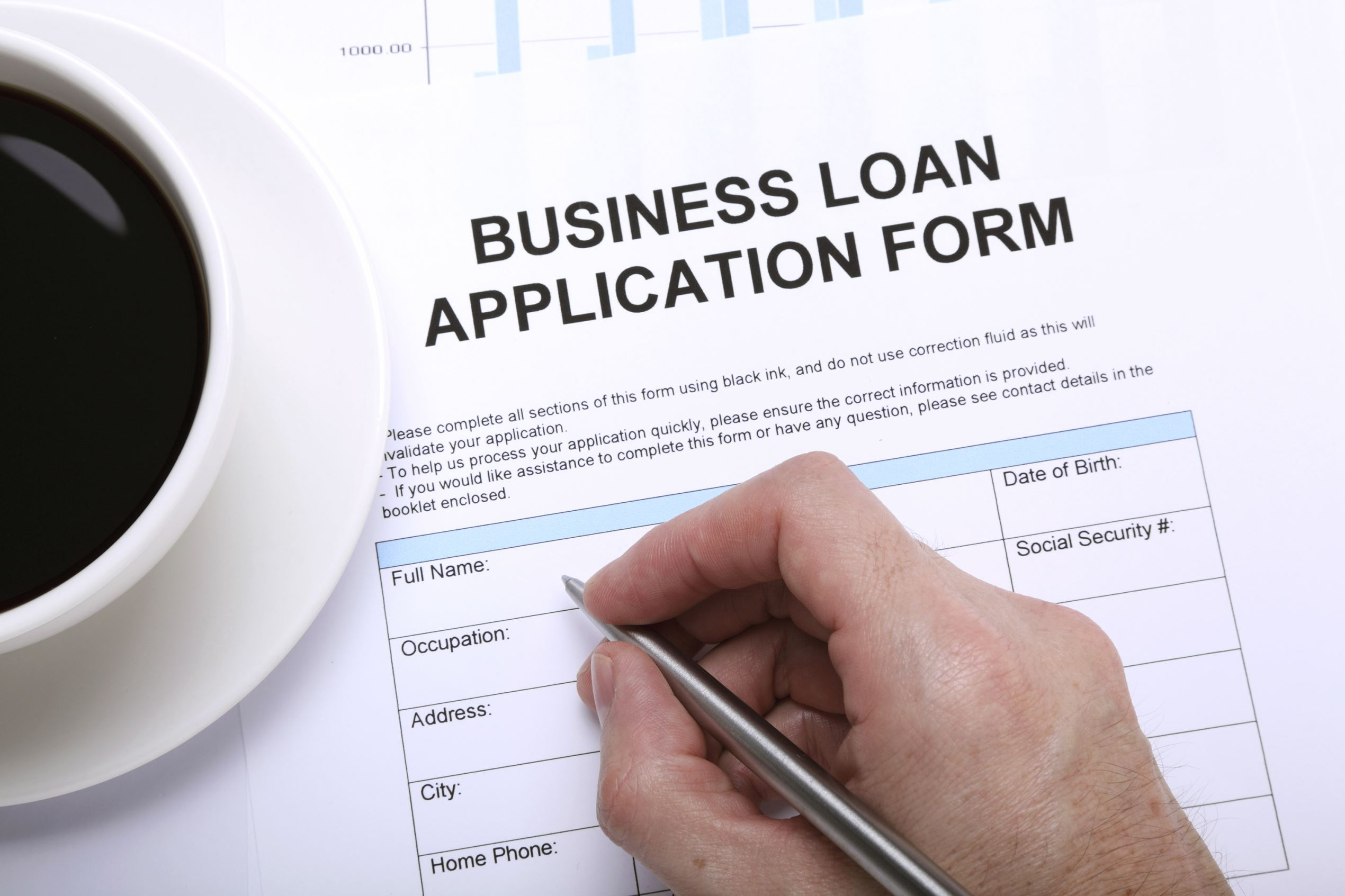 Business loan form. Sadeugra/Getty Images