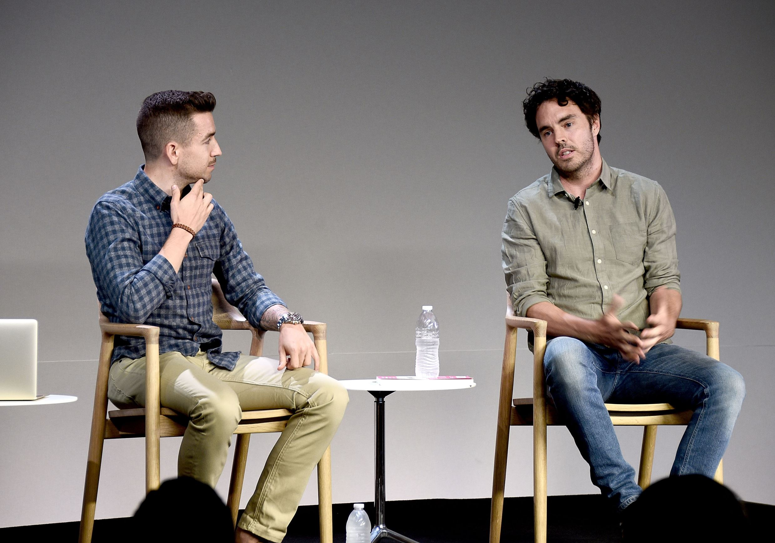 NEW YORK, NY - JULY 28: (L-R) Moderator Charles Thorp and filmmaker Damon Gameau attend Apple Store Soho Meet the Filmmaker: Damon Gameau, 'That Sugar Film' at Apple Store Soho on July 28, 2015 in New York City. (Photo by Andrew H. Walker/Getty Images)