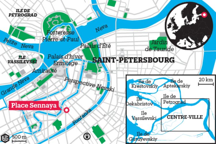 Carte Saint-Pétersbourg