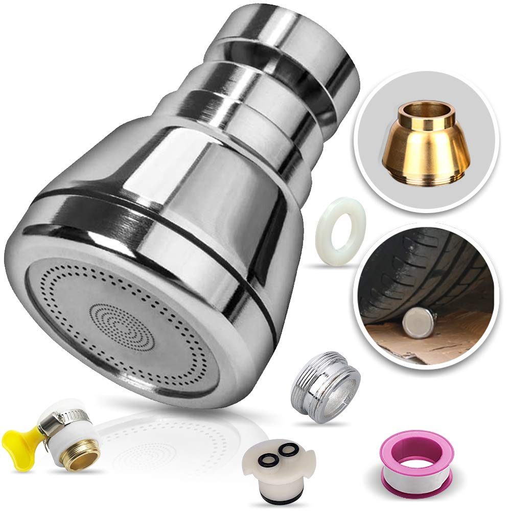 upgraded swivel kitchen sink faucet aerator solid copper high pressure faucet sprayer head replacement anti splash faucet nozzle filter water