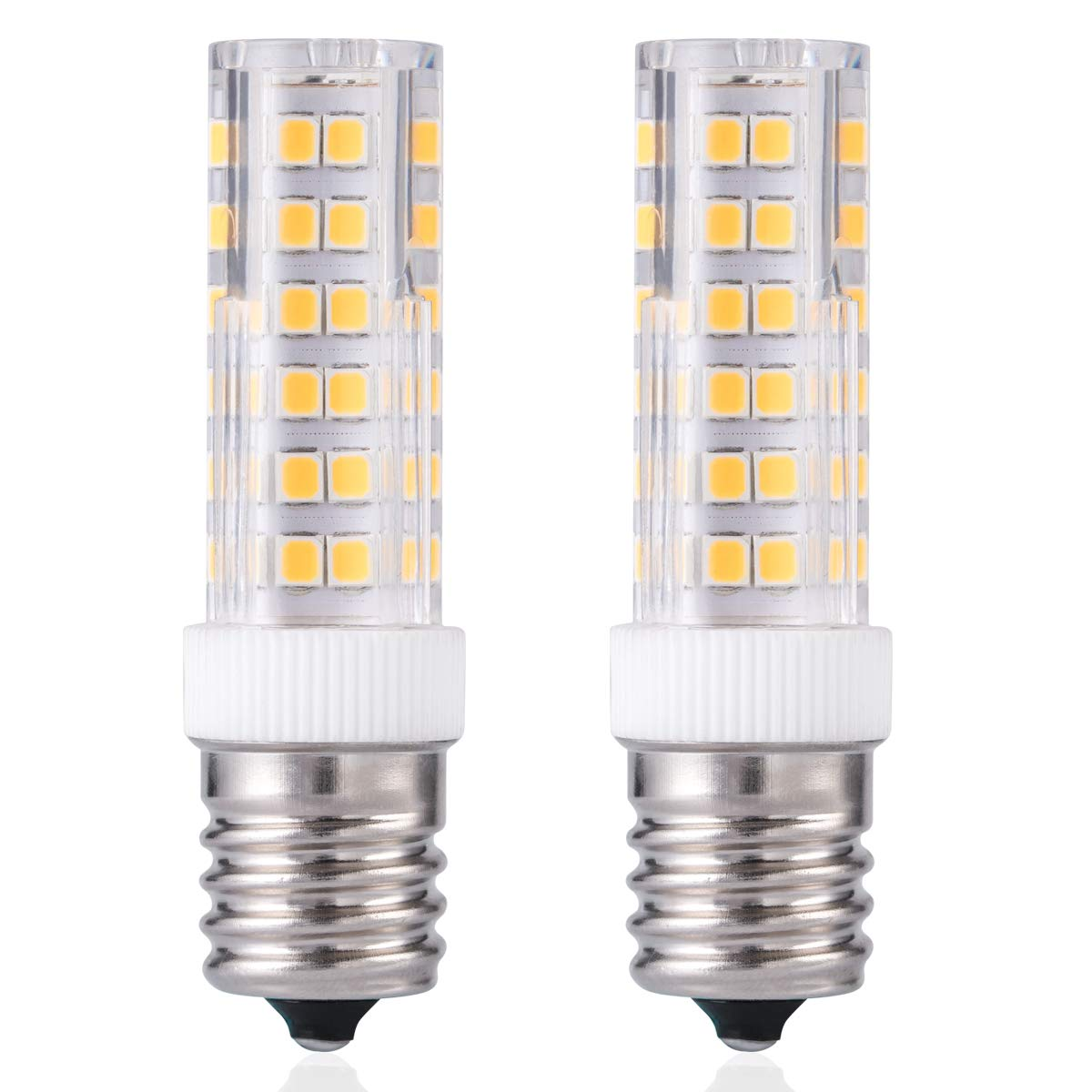 e17 led bulb over counter microwave oven light dimmable 6 watt warm white 3000k for ceiling fan light fixture pack of 2