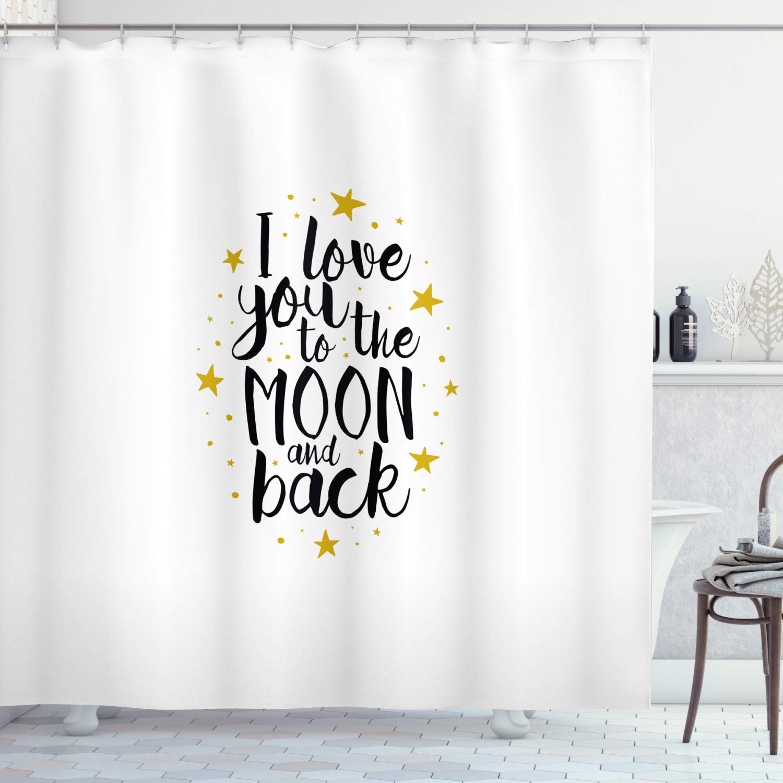 ambesonne love shower curtain i love