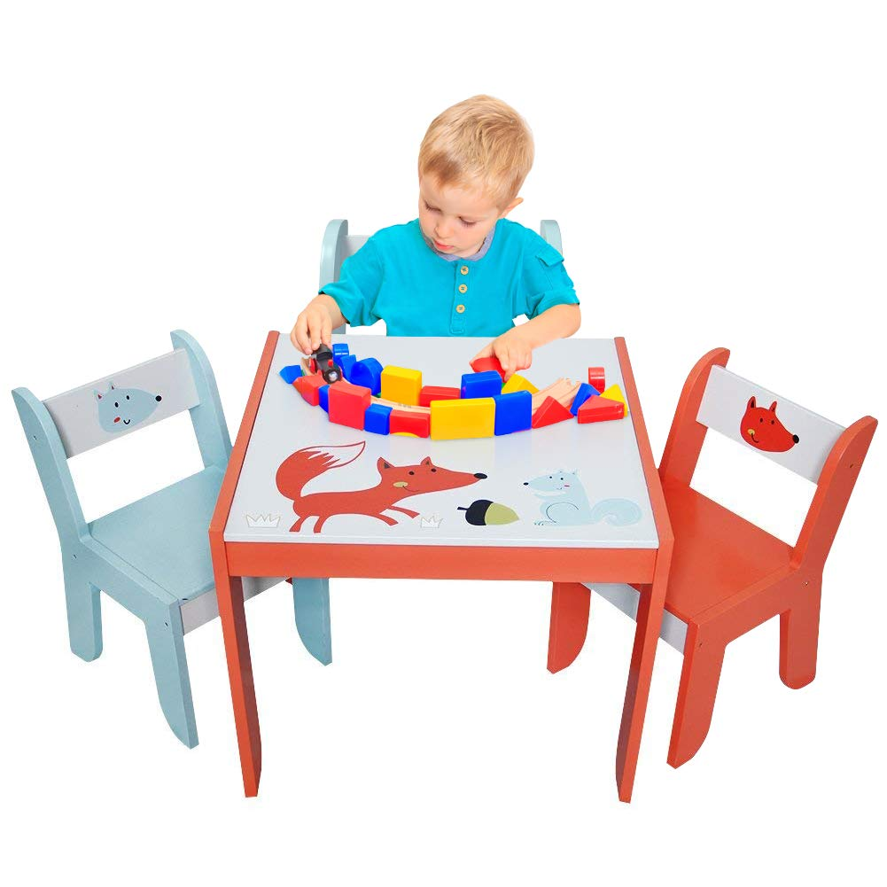 Labebe Wood Table Set For Kids 1 5 Years Activity Table Chair Set Study Table And Chair For Children Baby Wooden Table Set For Drawing Toddler Game Drafting Table Chair Infant Play Desk