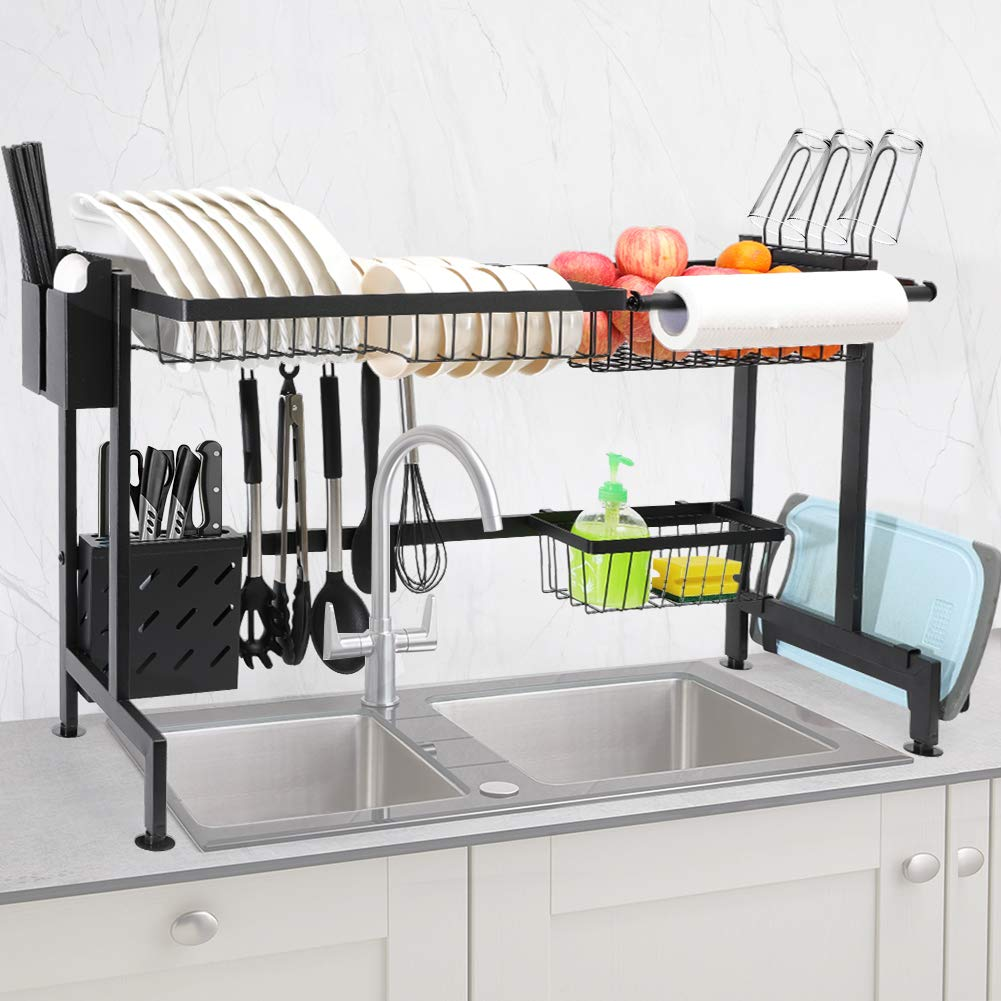 chasstoo over the sink dish drying rack above sink kitchen drain drainage rack stainless steel oversink decor dish drainer dishrack sink size