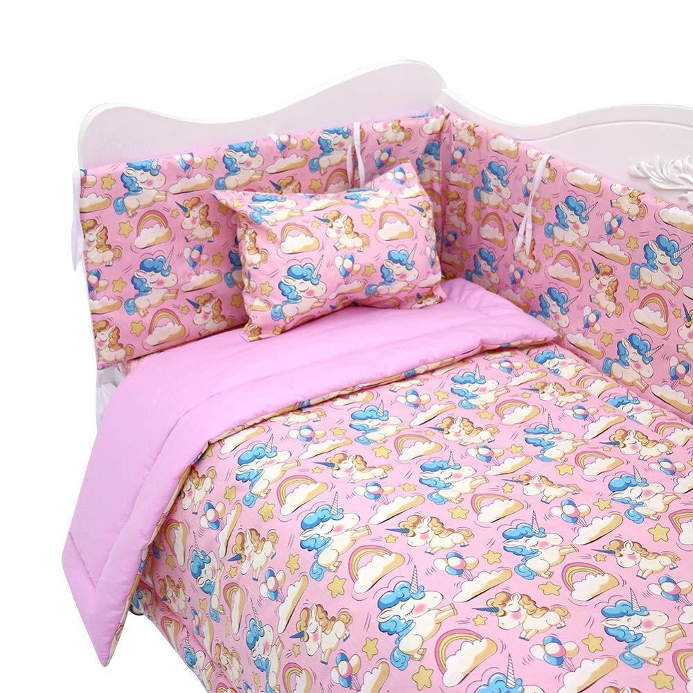 7 piece baby bedding set newborns sleeping quilt crib bedding sets neutral warm nursery comforter 100 extra thick cotton standard size crib