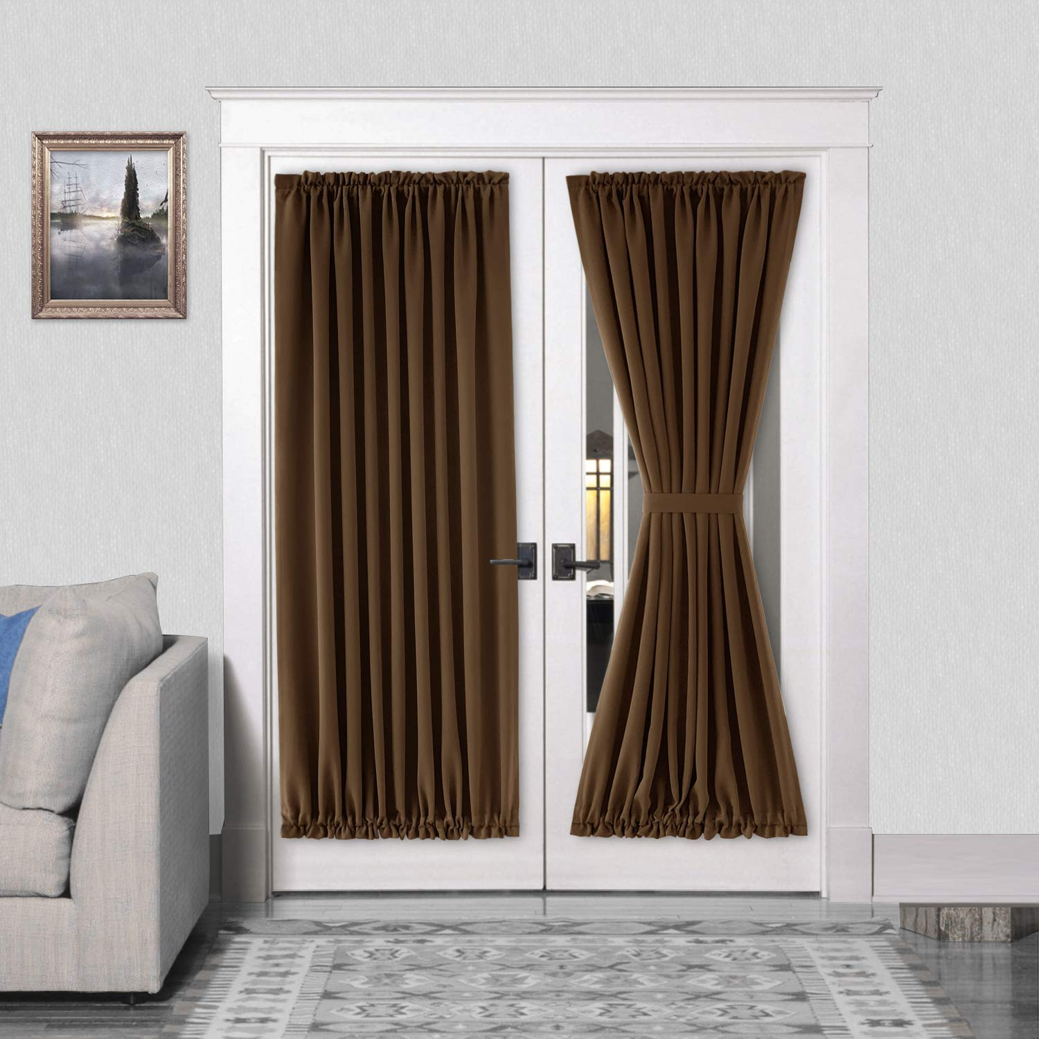 rod pocket thermal blackout curtain for