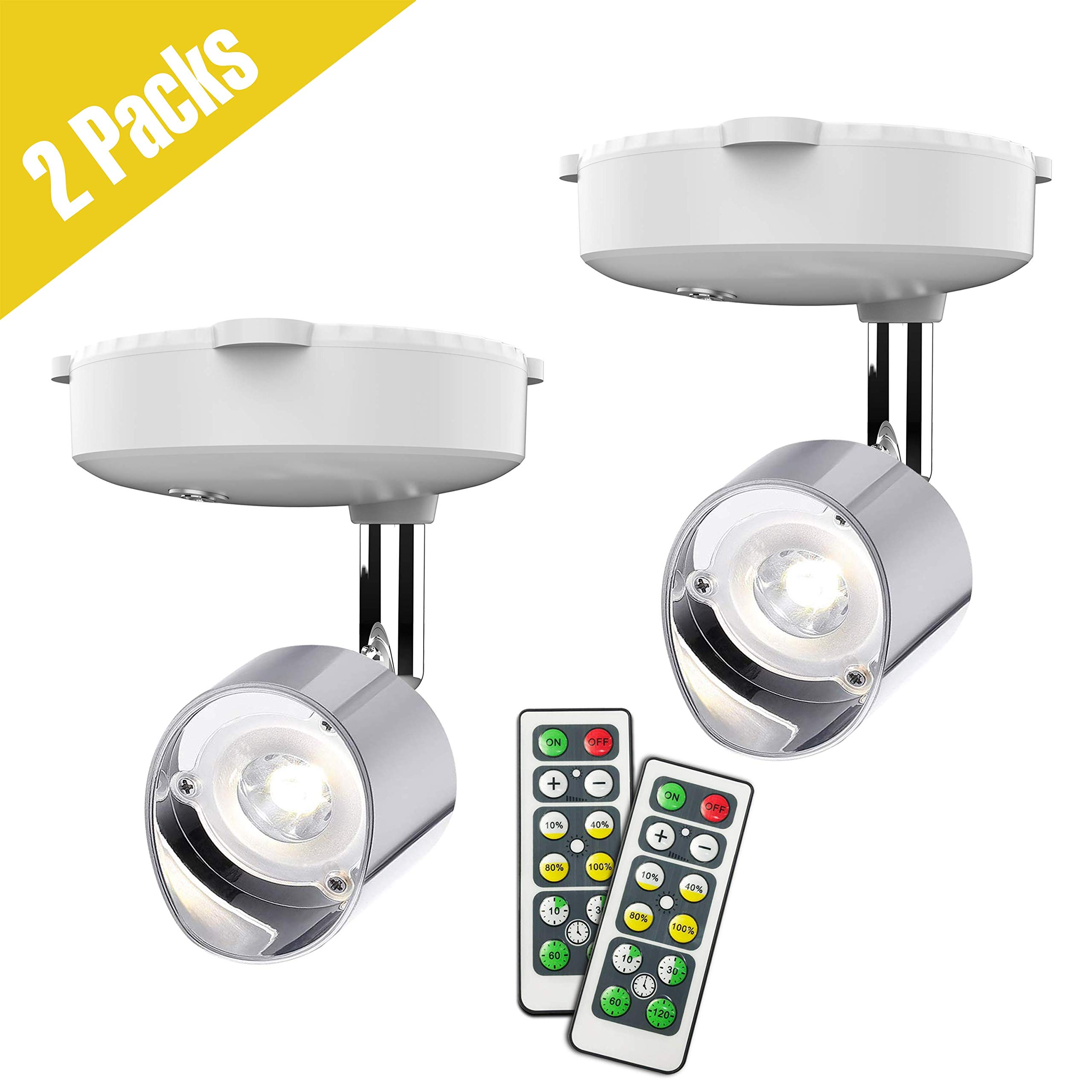 wireless spotlight battery operated accent lights art lights for paintings mini led picture light puck lights wall light 4000k light 80 lumens