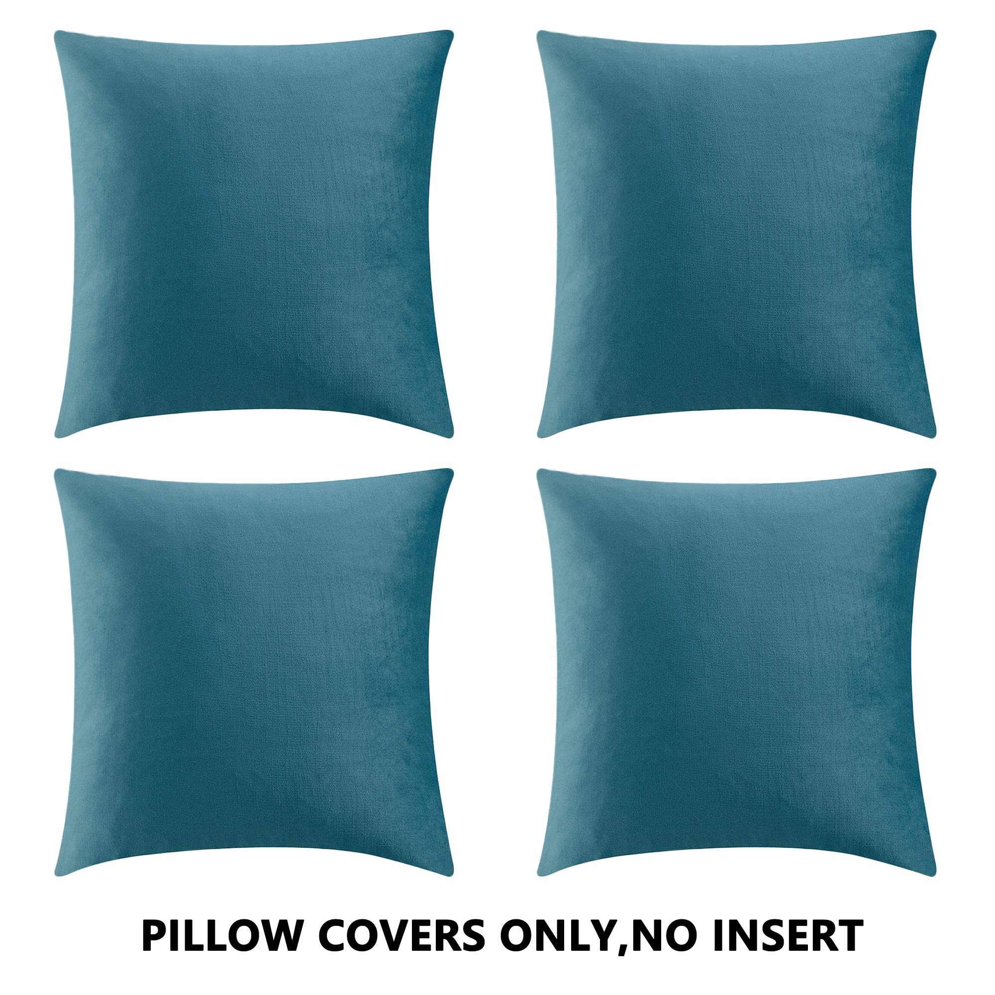 pillow cover teal blue white decorative