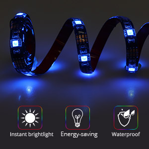 led strip lights battery powered rgb led strip with rf remote waterproof 4 aa batteries underglow light for longboard skateboards and scooter