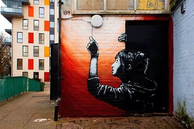 Büyüleyici duvar sanatıyla karşılaştığınız o an.