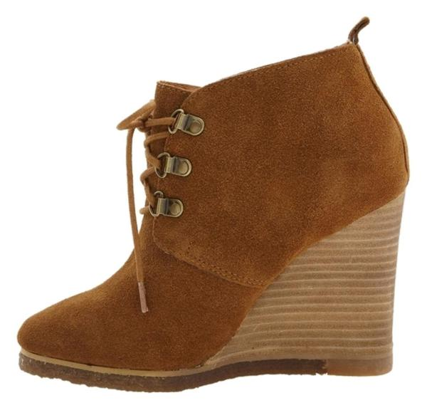 Steve Madden Brown Suede Wedges Boots Booties Size 8.5