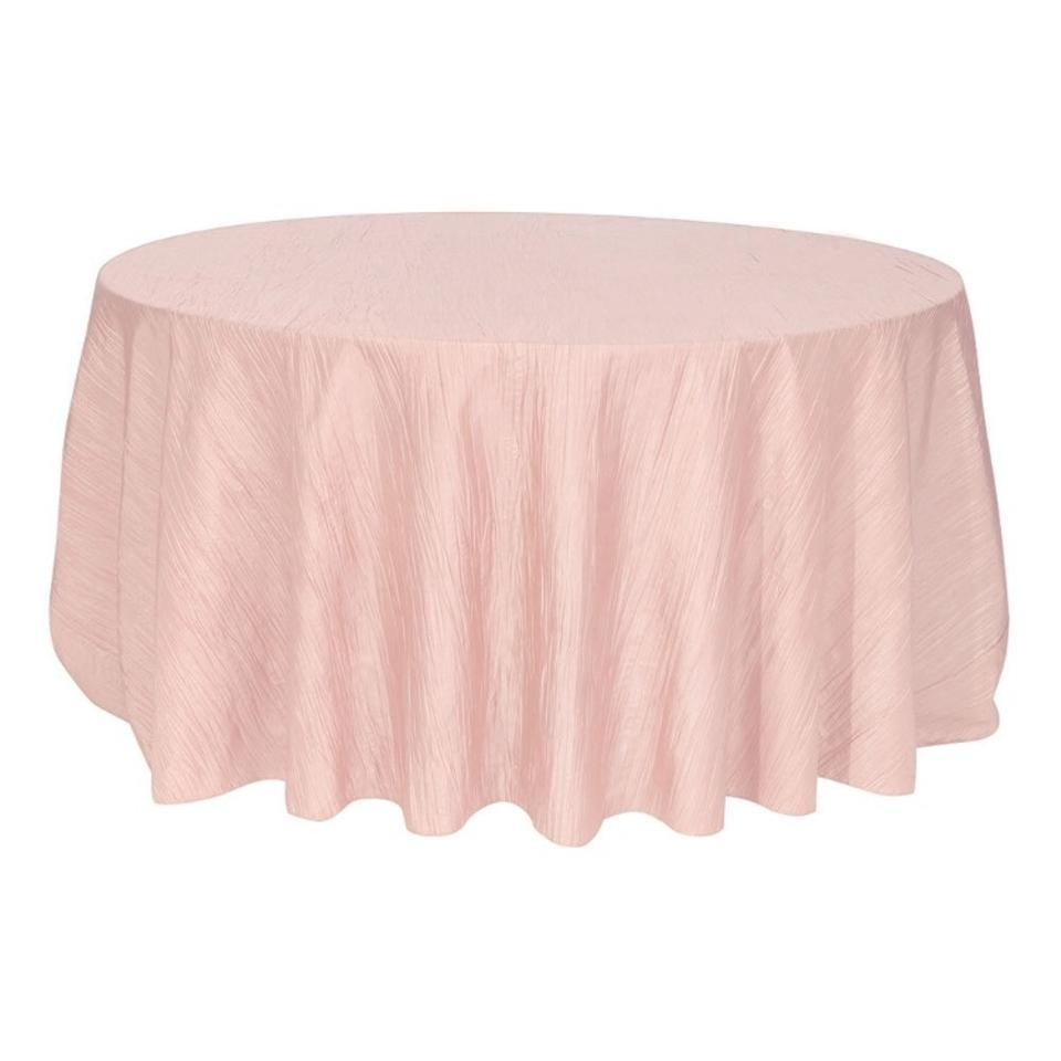 Your Chair Covers Your Chair Covers Blush 120 Inch Round Crinkle Taffeta Tablecloth 40 Off Retail