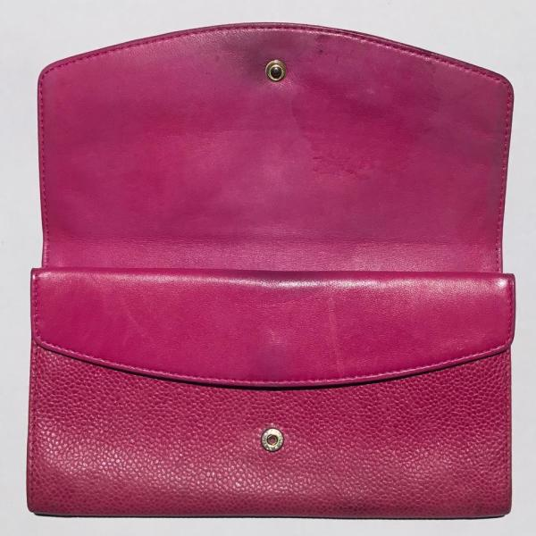 Chanel Clutch Timeless Caviar Cc Flap Wallet Pink Leather