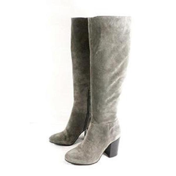 Vince Camuto Grey Sabana Suede Leather Tall Knee High Boots Booties Size 11 Regular