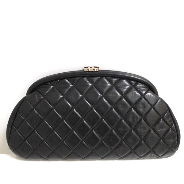 Chanel Timeless Lambskin Quilted With Silvertone Black