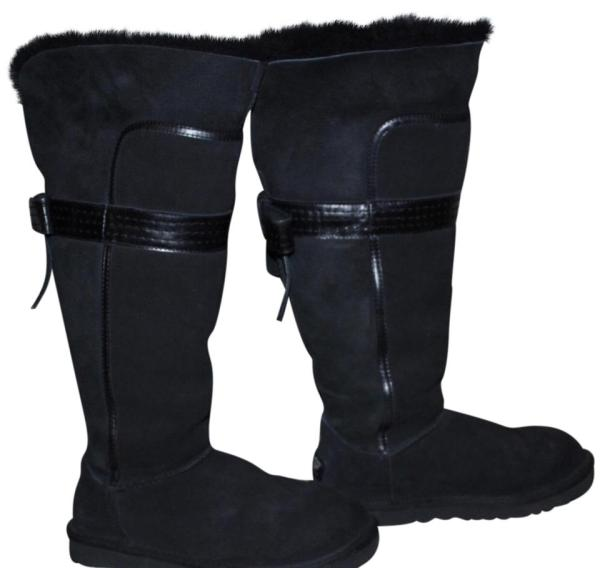 Ugg Australia Black Genevieve Tall Boots Booties Size 7