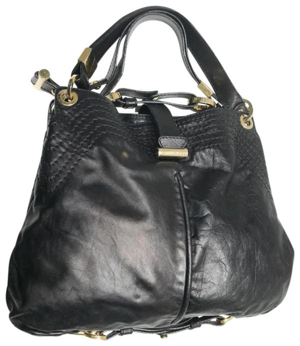 Jimmy Choo Ayse Shoulder Tote Black Leather Hobo Bag - Tradesy