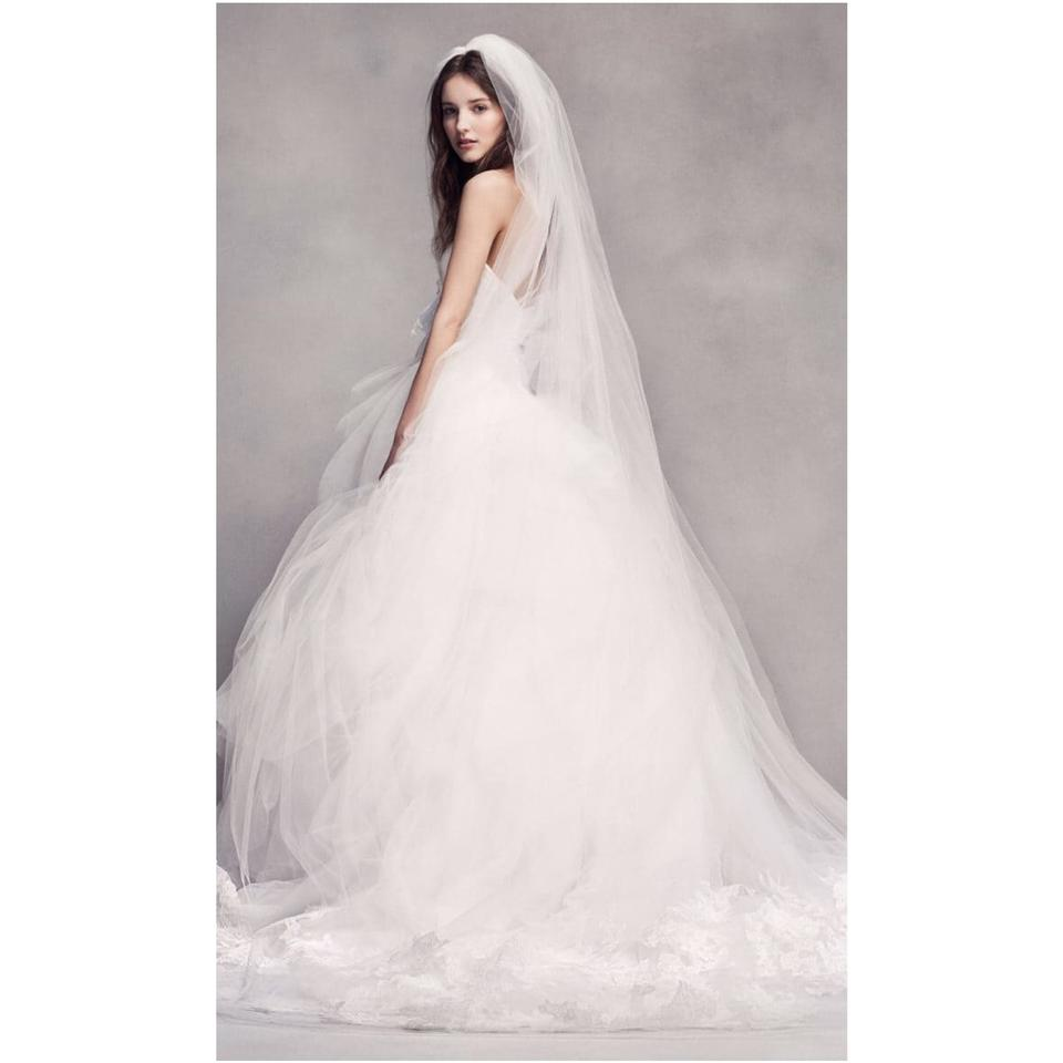 0f329604d2f Vera Wang Bridal Ivory Silk Strapless Tulle Lace Embroidered Ballgown  Formal Wedding Dress Size 12 L 86 Off Retail