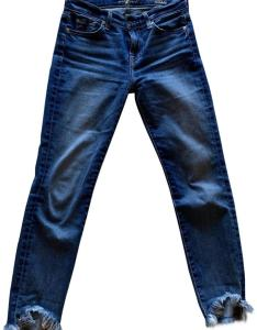 for all mankind canyon ranch medium wash womens roxanne ankle  wave hem in straight leg jeans also rh tradesy