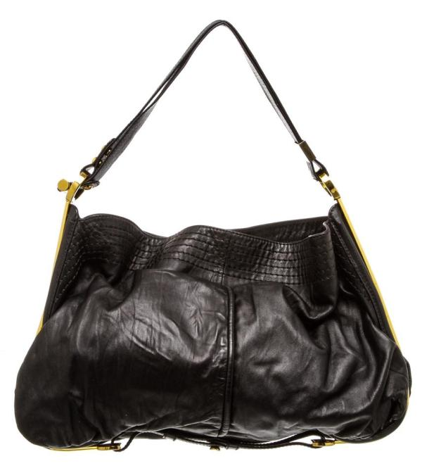 Jimmy Choo 488495 Black Leather Hobo Bag - Tradesy