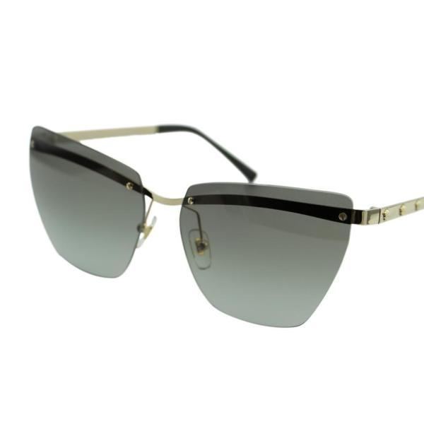 f004814bcbe0 Versace Gray Medusina Ve2190 Women Pale Gold Rimless Cat Eye 58mm Sunglasses  - Tradesy