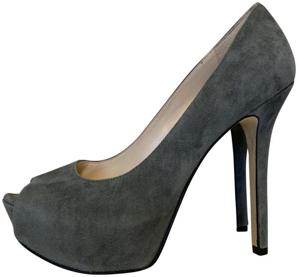 Enzo Angiolini Grey Tanen Platform Pumps Size 7 Regular