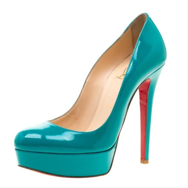 Christian Louboutin Green Patent Leather Bianca Platform