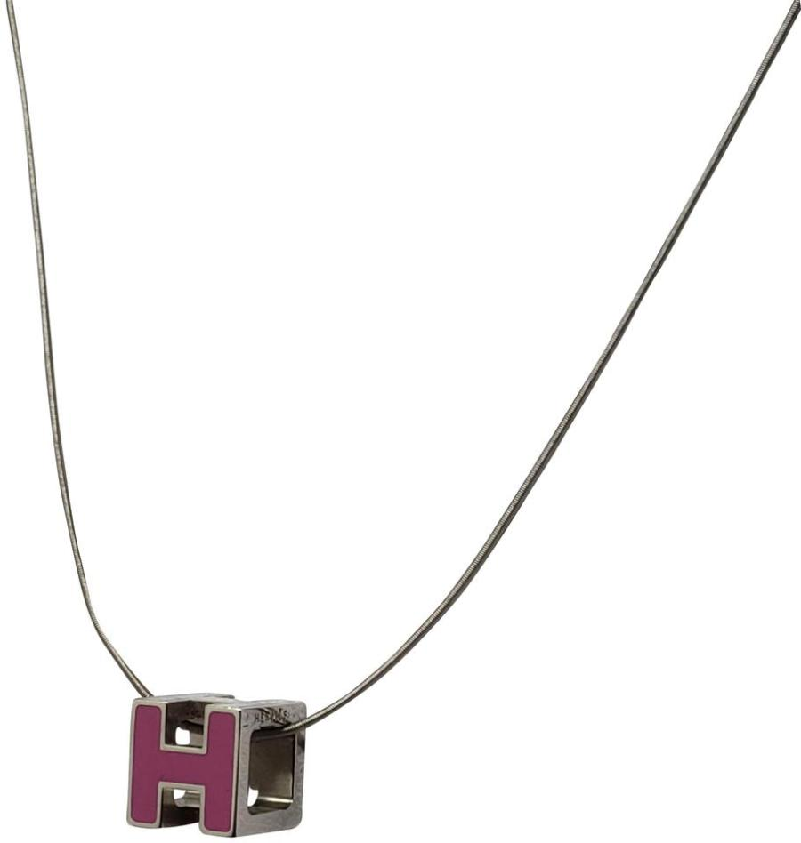 Hermès Silver Palladium Plated Cage Dh Pendant Necklace 35 Off Retail