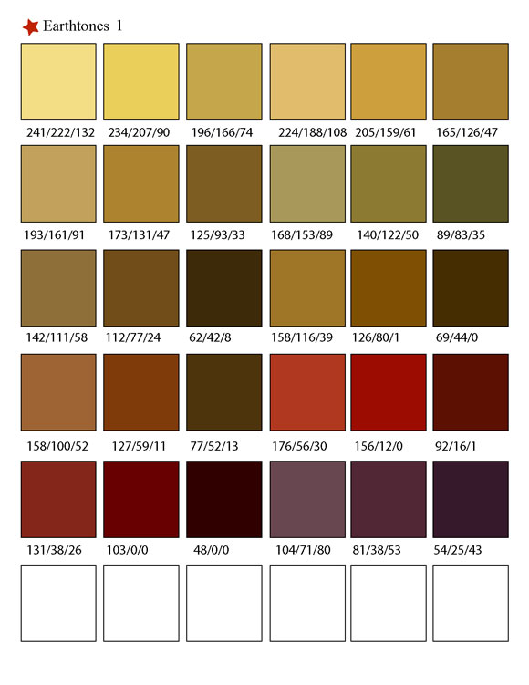 Printable RGB Color Palette Swatches - My Practical Skills   My Practical Skills