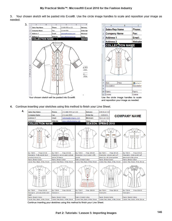 """Microsoft Excel for the Fashion Industry"""" eBook - My Practical ..."""