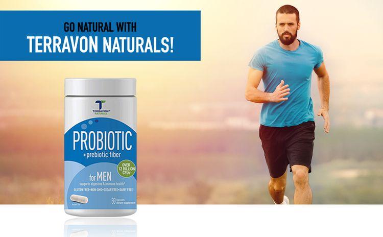 Terravon Naturals Multi-Strain Probiotics + Prebiotic for ...