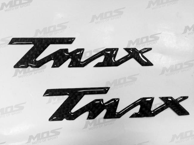 MOS : YAMAHA T-MAX 碳纖維LOGO 貼紙 [YBL-TMAX-C01-A06]
