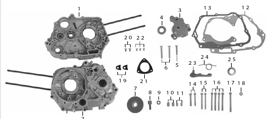 SP TAKEGAWA (Special Parts TAKEG : SPL Crankcase Set(4SMS