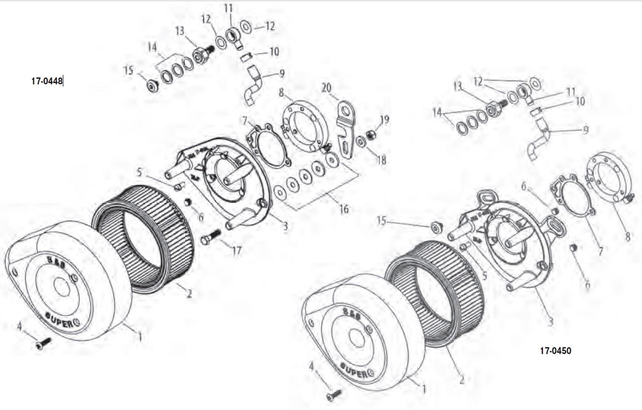 KIJIMA : [Repair Parts (for S&S Air Cleaner Kit CV & EFI