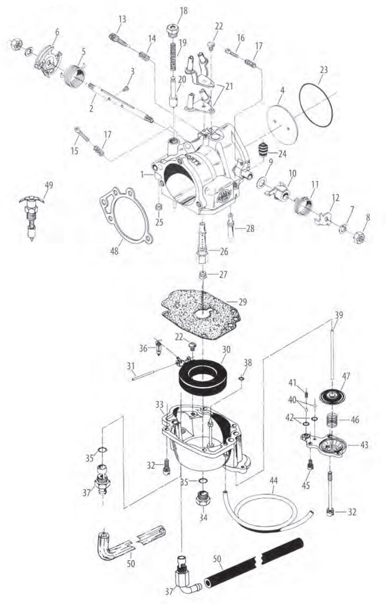 Kijima Repair Parts For S Amp S Super E Carburetor Kit