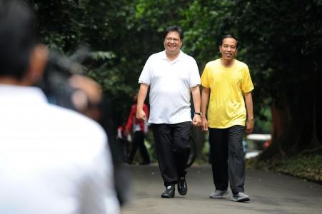 Airlangga dan Jokowi (Foto: Istimewa)