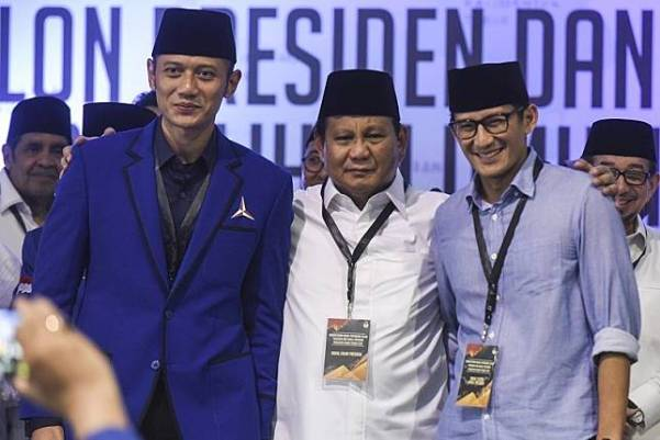 Prabowo-Sandiaga, dan AHY